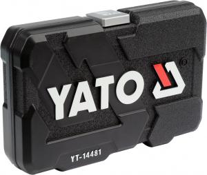 Trusa Chei Tubulare YATO, Antrenor cu Clichet, CR-V, 1/4 inch, 42 buc3