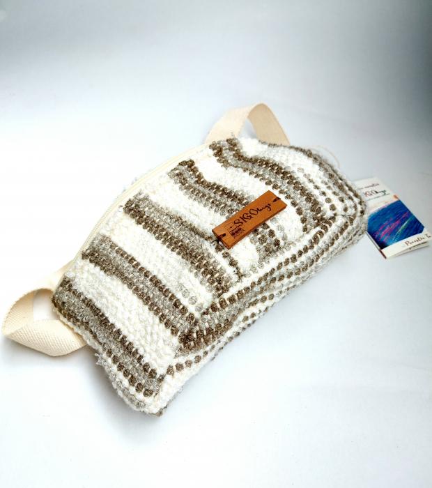 Borseta handmade tesuta manual la razboiul de tesut [0]
