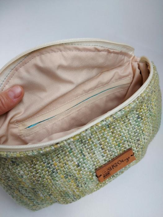 Borseta handmade tesuta manual la razboiul de tesut [6]