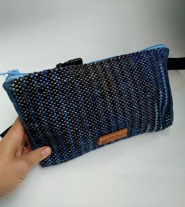 Borseta handmade tesuta manual la razboiul de tesut [3]