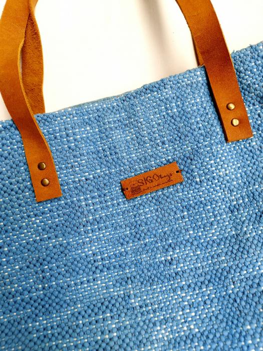 Geanta handmade de umar model bleu jeans reciclat [1]