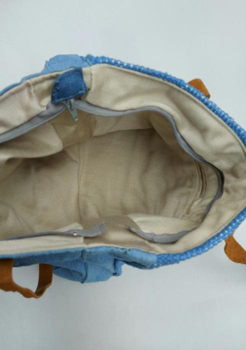 Geanta handmade de umar model bleu jeans reciclat [5]