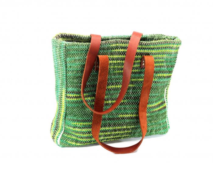 Geanta handmade model verde [1]