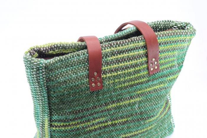 Geanta handmade model verde [3]