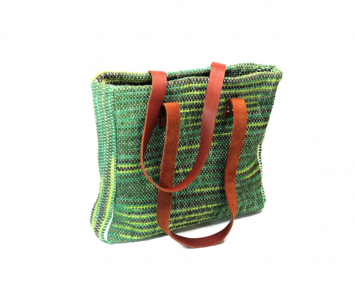 Geanta handmade model verde [0]