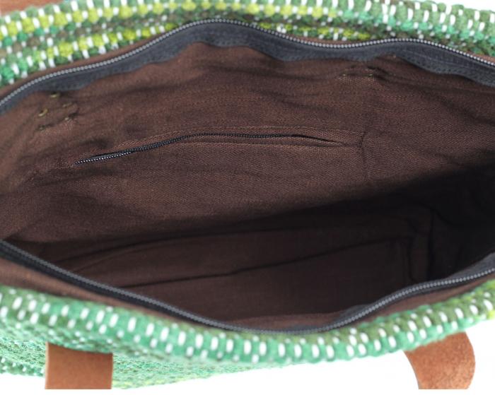 Geanta handmade model verde [5]