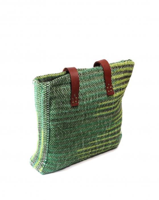 Geanta handmade model verde [7]