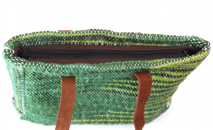 Geanta handmade model verde [8]