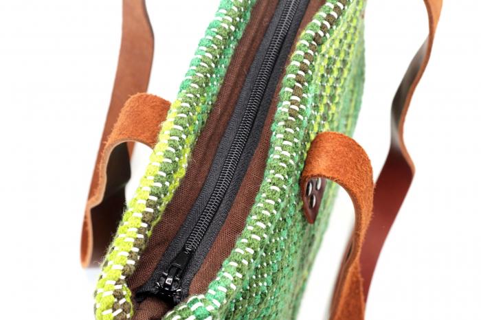 Geanta handmade model verde [2]