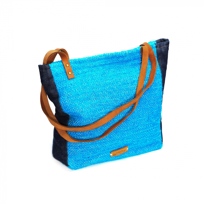 Geanta handmade model albastra [1]