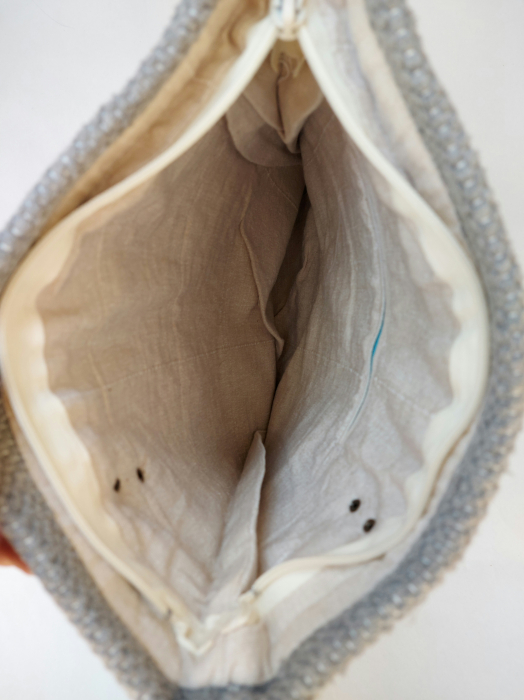 Geanta handmade model gri [4]