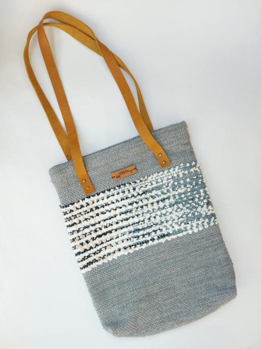 Geanta handmade model gri [0]