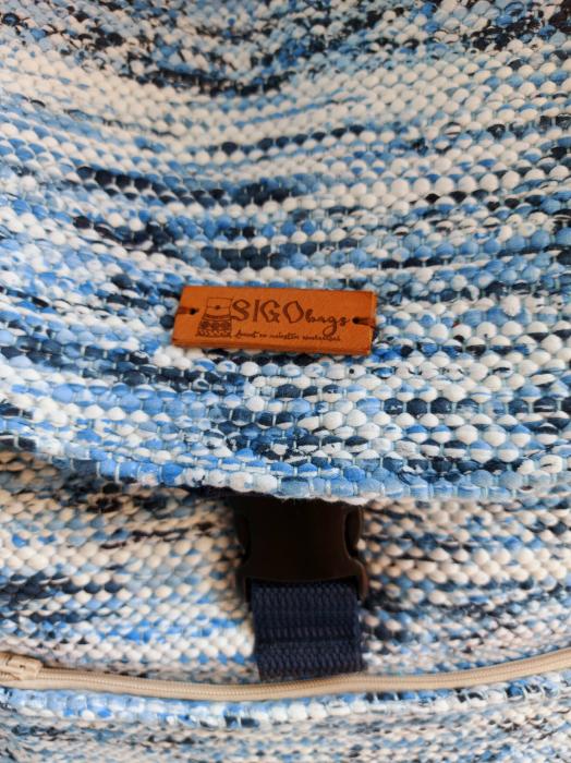 Rucsac de umar handmade tesut manual la razboiul de tesut [3]