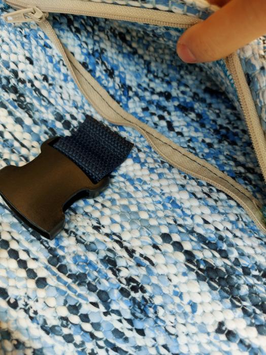 Rucsac de umar handmade tesut manual la razboiul de tesut [1]
