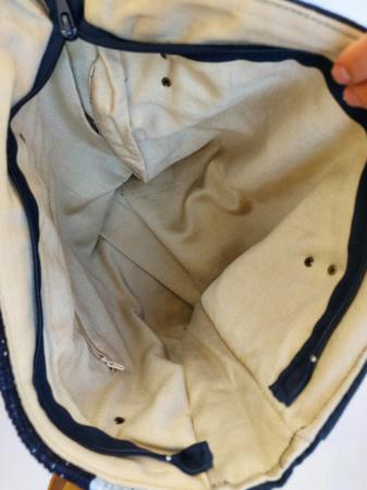 Geanta handmade de umar model bleu jeans reciclat [6]