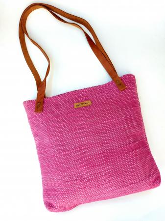 Geanta handmade model roz [0]