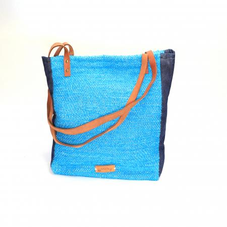 Geanta handmade model albastra [0]