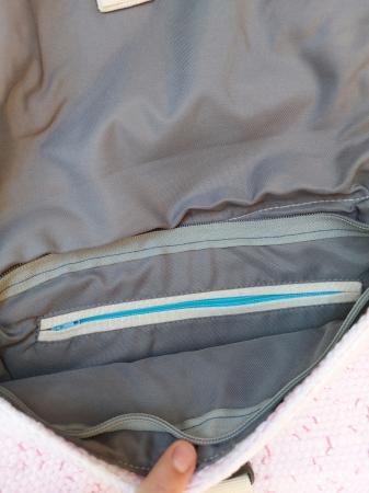 Rucsac de umar handmade tesut manual la razboiul de tesut [5]