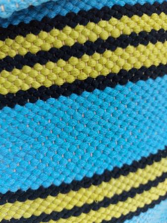 Rucsac de umar handmade tesut manual la razboiul de tesut, turcoaz [1]