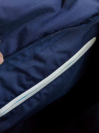 Rucsac de umar handmade tesut manual la razboiul de tesut, albastru [2]