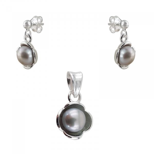 Set Argint 925% cu Perle de Mallorca [1]
