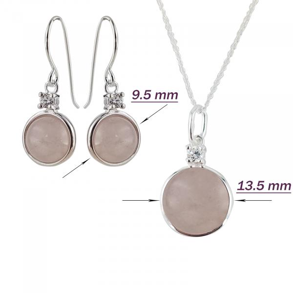 Set Argint 925% Round Pink [1]
