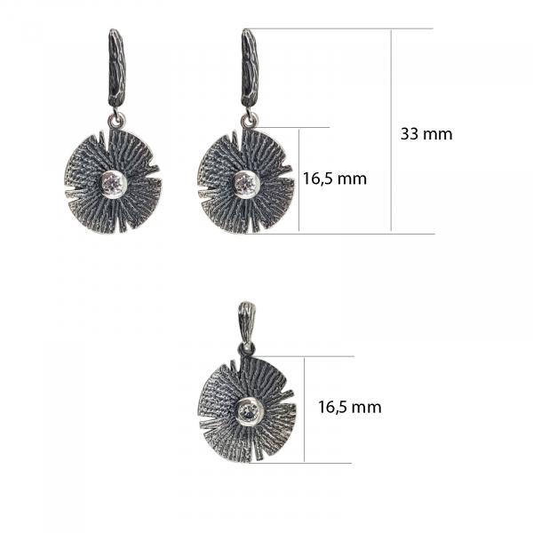 Set Argint vintage cu un cristal central [2]