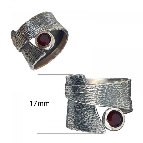 Inel Argint-Antracit cu piatra rubinie,cod 1540 [2]