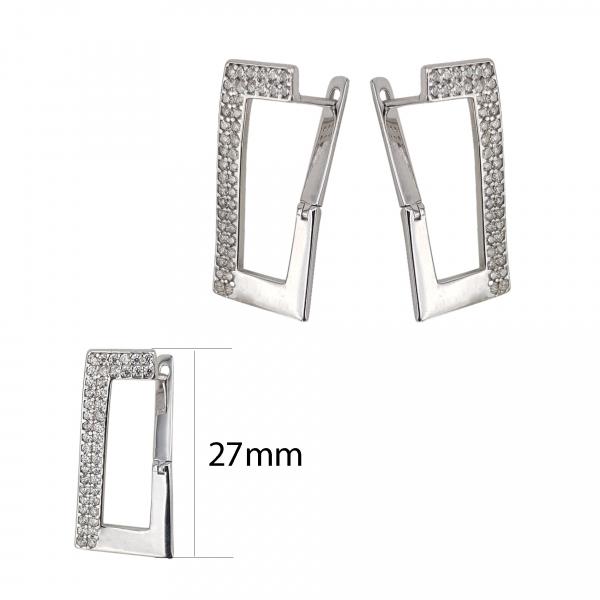 Cercei Argint 925% cu zirconii albe [3]