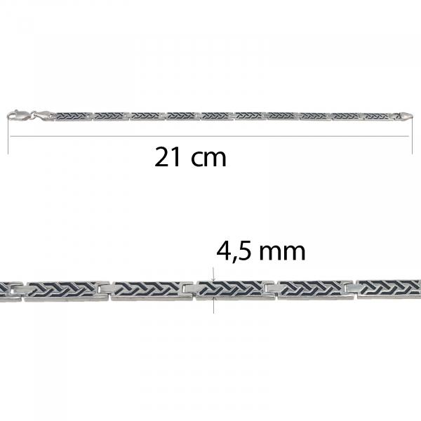 Bratara Argint 925% barbati  din placute [3]