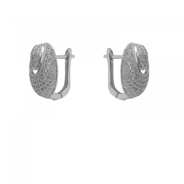 Cercei Argint 925% Prime cu  zirconia albe [0]