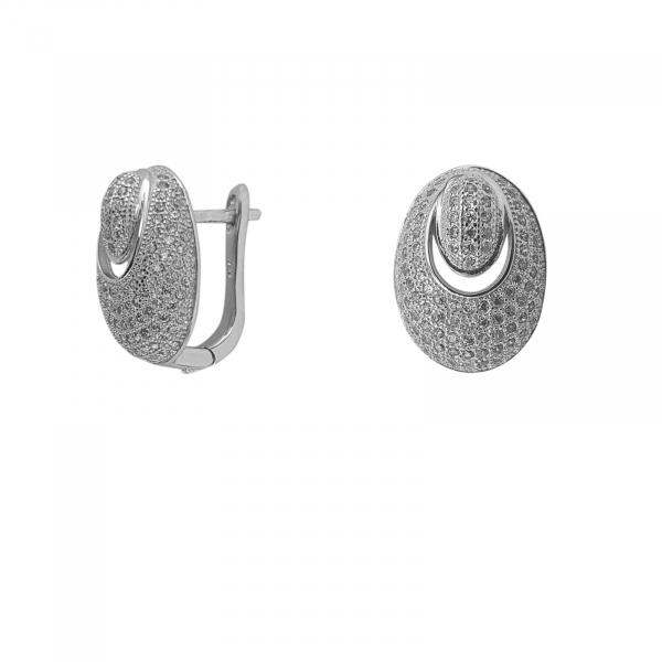 Cercei Argint 925% Prime cu  zirconia albe [2]