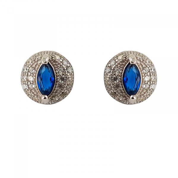 Cercei Argint 925% Blue Eye Drop [0]