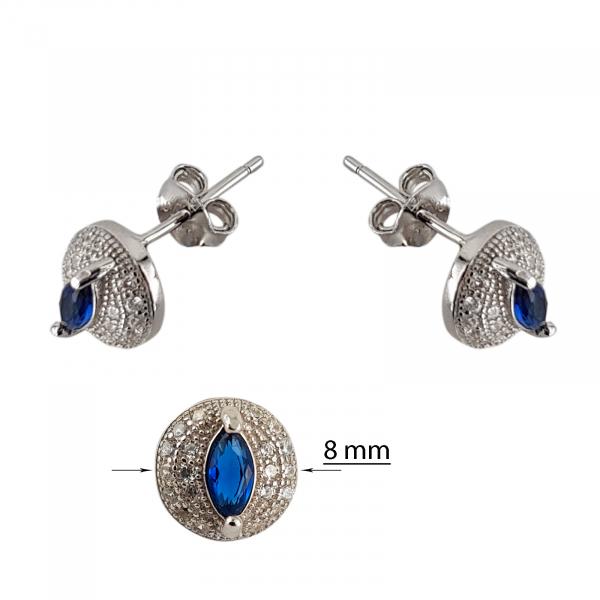 Cercei Argint 925% Blue Eye Drop [1]