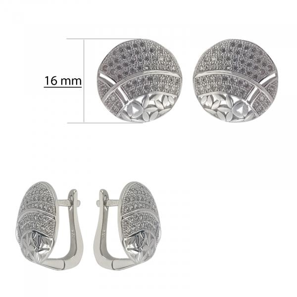 Cercei Argint 925% cu zirconia albe [3]