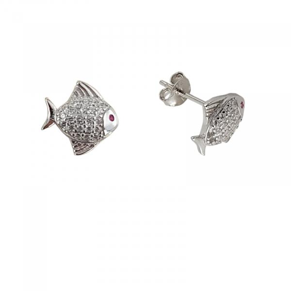 Cercei Argint 925% Silver Fish [1]