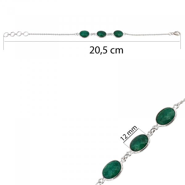 Bratara Argint 925% si smaralde [2]