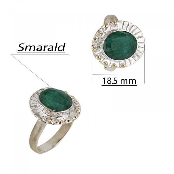 Inel Argint cu Smarald [1]