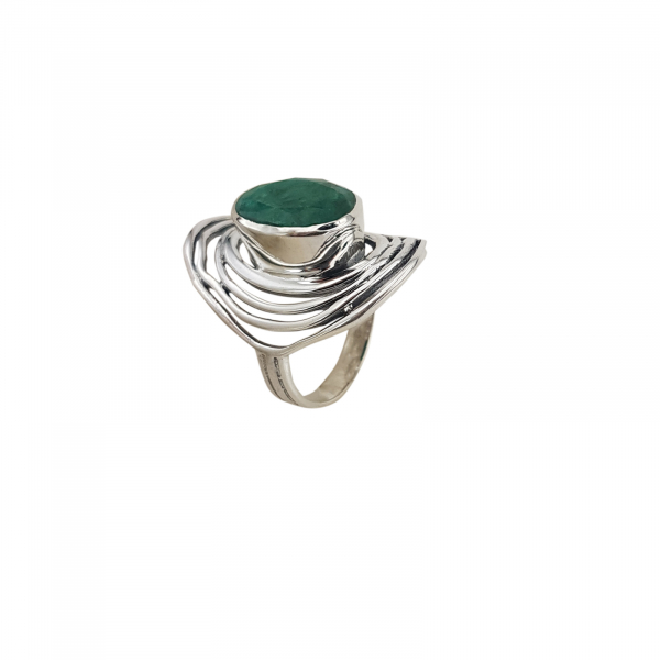 Inel Argint 925% cu smarald [2]