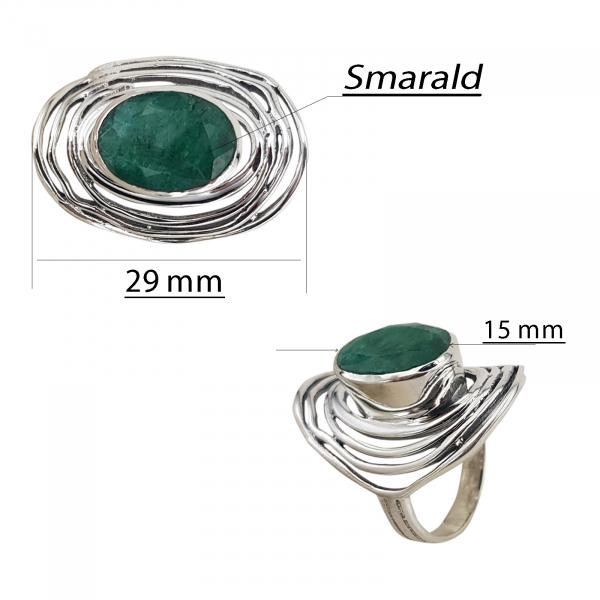 Inel Argint 925% cu smarald [1]