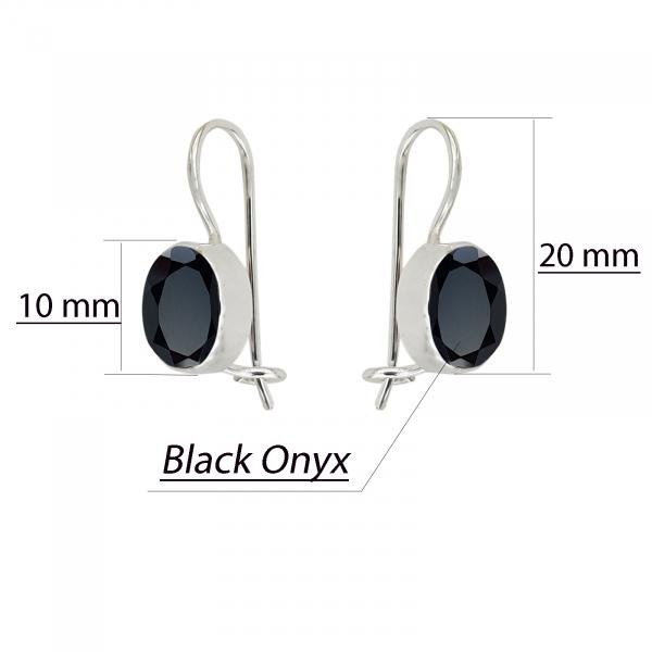 Cercei Argint cu Onix negru [2]