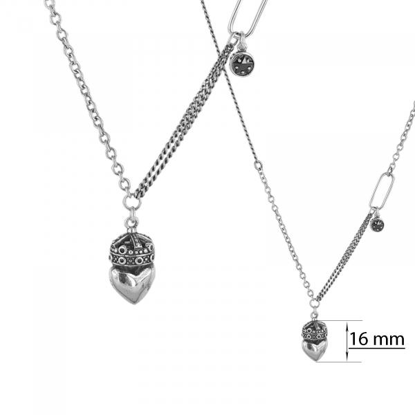 Colier Argint 925% cu o inima incoronata [1]