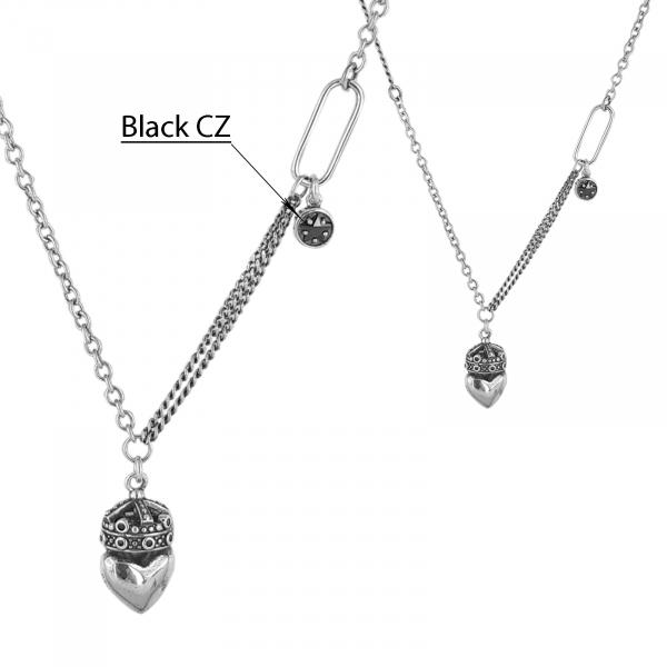Colier Argint 925% cu o inima incoronata [2]