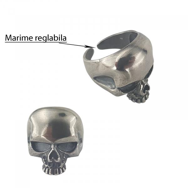 Inel Argint 925% sub forma de craniu [3]