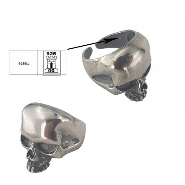 Inel Argint 925% sub forma de craniu [4]