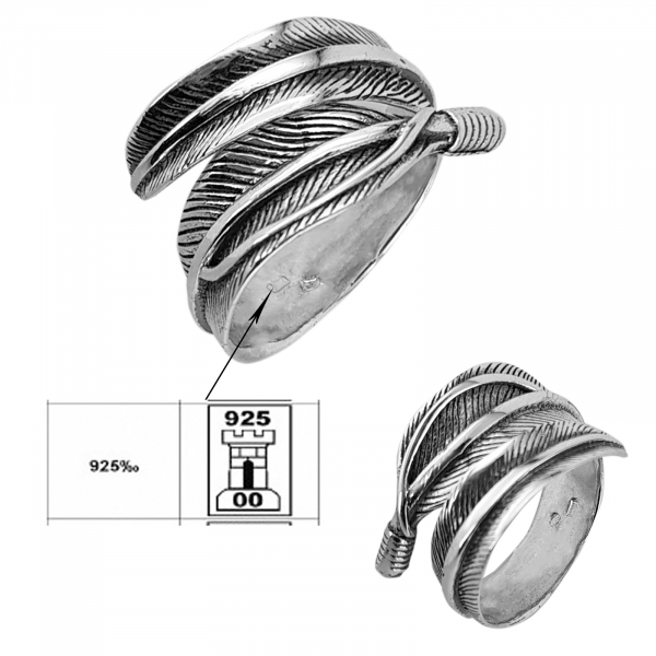 Inel Argint 925% reglabil Vintage Leaf [2]