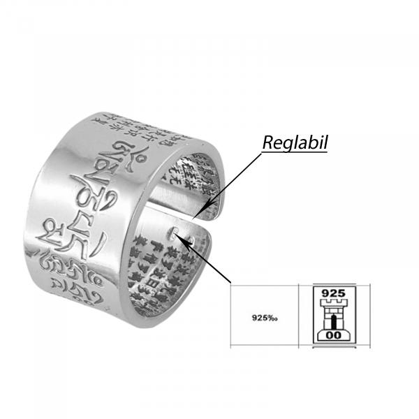 Inel Argint 925% cu simboluri [2]