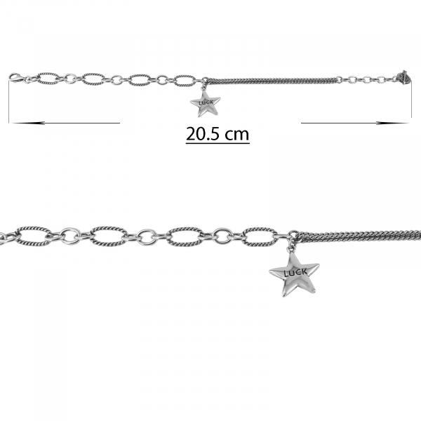 Bratara Argint 925% cu stea garavata -Luck- [1]