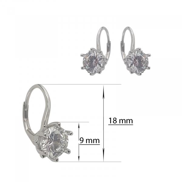 Cercei Argint 925% cu zirconia de 9mm [1]