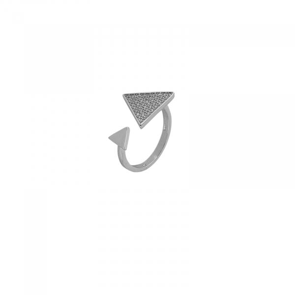 Inel Argint 925% reglabil cu CZ alb [0]